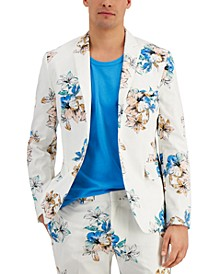 Men's Slim-Fit Tropical Floral Print Blazer, Created for Macy's