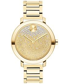 Women's Swiss Bold Evolution Gold-Tone Stainless Steel Bracelet Watch 34mm