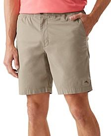 """Men's Oceanside Poplin 8"""" Elastic Waist Shorts"""