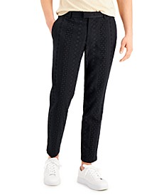 Men's Slim-Fit Eyelet Pants, Created for Macy's