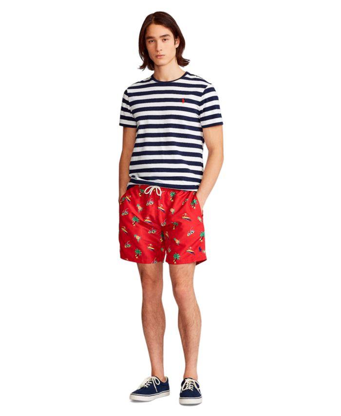 Polo Ralph Lauren Men's 5.75-Inch Traveler Classic Swim Trunk & Reviews - Swimwear - Men - Macy's