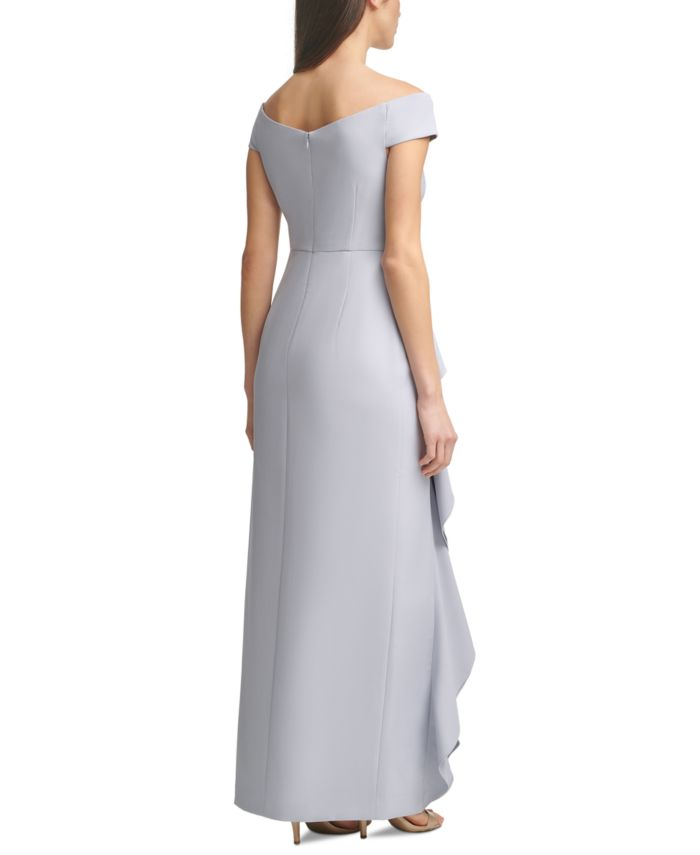 Vince Camuto Off-The-Shoulder Ruffled Gown & Reviews - Dresses - Women - Macy's