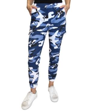 Crave Fame Juniors' Camo-Print Cargo Jogger Pants