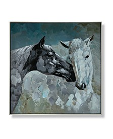 "Wild Horses Framed Canvas Wall Art, 28"" x 28"""