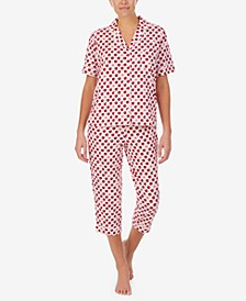 Printed Capri Pants Pajama Set