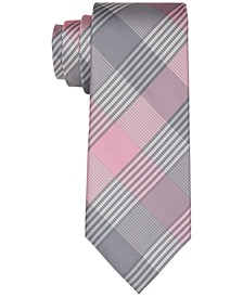 Men's Slim Block Check Tie