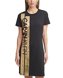 Foil-Logo Dress