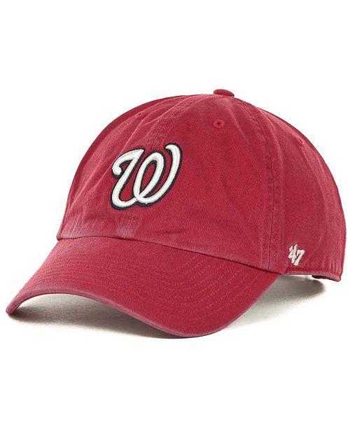 47 Unisex MLB Washington Nationals Clean up Baseball Cap 47 Brand 1q0o2