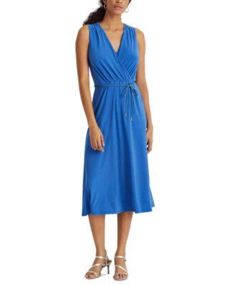 로렌 랄프로렌 Lauren Ralph Lauren Jersey Sleeveless Dress,Boysenberry