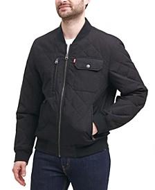 Men's Diamond Quilted Bomber Jacket