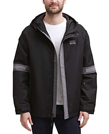 Men's Tech Regular-Fit Colorblocked Hooded Rain Jacket