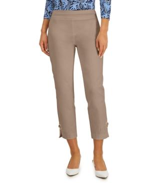Ring-Detail Slim-Leg Pants