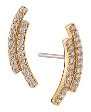 Double Bar Gold Tone Earrings
