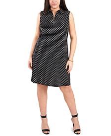 Plus Size O-Ring Jersey Shift Dress