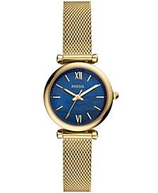 Women's Carlie Mini Two-Tone Gold-Tone Mesh Bracelet Watch 28mm