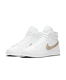Women's Court Royale 2 Mid High-Top Casual Sneakers from Finish Line