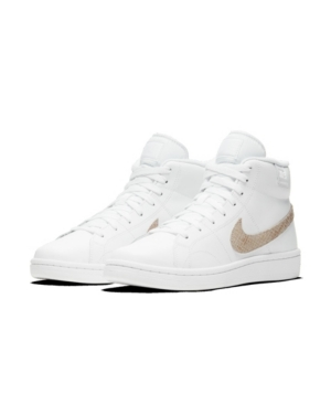 Nike Women's Court Royale 2 Mid High-top Casual Sneakers From Finish Line In White