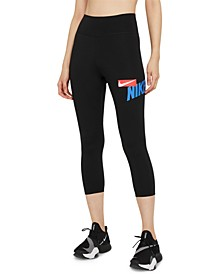 One Women's Cropped Graphic-Print Leggings