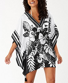 Hibiscus Printed Tunic Cover-Up