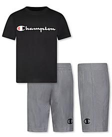 Baby Boys 2-Pc. Logo T-Shirt & Mesh Shorts Set