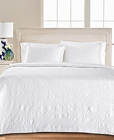 Floral Matelasse 100% Cotton Twin Bedspread, Created for Macy's