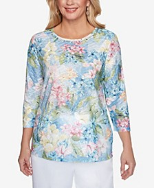 Plus Size Classics S1 Watercolor Floral Top