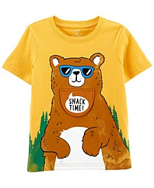 Toddler Boys Bear Peek-A-Boo Flap Jersey T-shirt