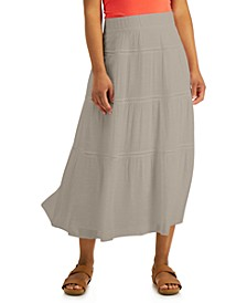 Petite Tiered Gauze Skirt, Created for Macy's