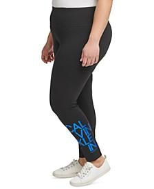 Plus Size Logo-Print Leggings