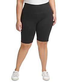 Plus Size Pocket Bicycle Shorts
