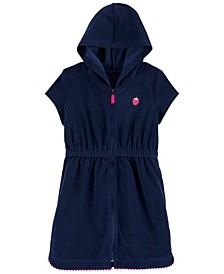 Little Girls Strawberry Hooded Cover Up