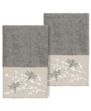 Linum Home BRAELYN EMBELLISHED HAND TOWEL SET, 2 PIECES BEDDING