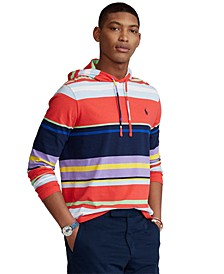 Men's Striped Jersey Hooded T-Shirt