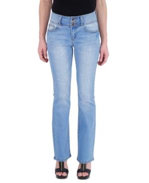 Juniors' Triple Button Flare Jeans