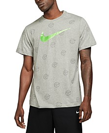 Men's Swoosh Basketball Logo Graphic T-Shirt