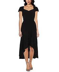 Sweetheart-Neck High-Low Dress