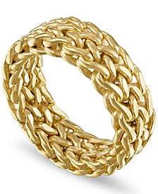 Woven Fashion Band in 14k Gold-Plated Sterling Silver, Created for Macy's (Also Available in Sterling Silver)