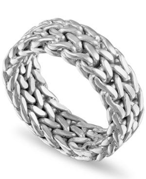 Woven Fashion Band in 14k Gold-Plated Sterling Silver