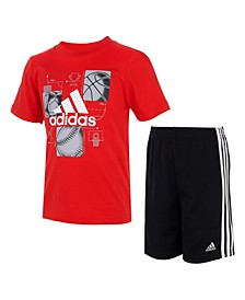 Little Boys Graphic T-shirt and Shorts Set, 2 Piece