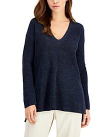 Organic Linen V-Neck Sweater