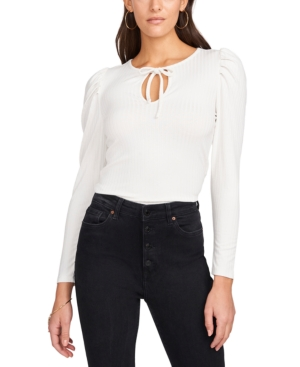 1.state TIE-NECK PUFF-SLEEVE TOP