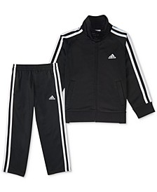 Little Boys Basic Tricot Jacket and Pants Set, 2 Piece