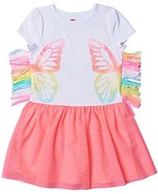 Toddler Girls Side Fringe Graphic Tutu Dress