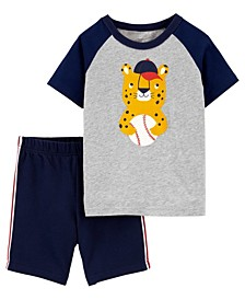 Baby Boys Leopard Basketball Tee and Short Set, 2 Pieces