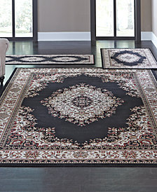 CLOSEOUT! KM Home Roma Kerman Black 3-Pc. Rug Set