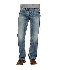 Men's Medium-Dark Indigo Wash Straight Leg Jeans