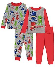 Pj Mask Toddler Boy 4 Piece Pajama Set