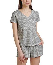 Women's Printed 2pc Pajama Shorts Set
