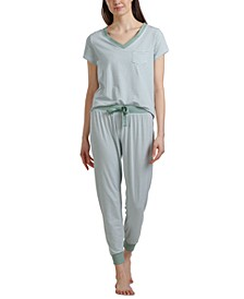 Striped T-Shirt & Jogger Pants Loungewear Set
