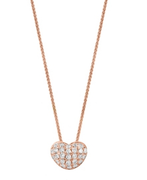 Diamond Heart Pendant Necklace (3/8 ct. t.w.) in 14K Rose Gold